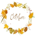 autumn frame consisting of twigs leaves vector image