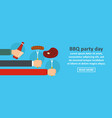 bbq party day banner horizontal concept vector image