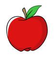 cartoon of an apple vector image