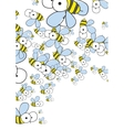 White Background With Bees Spring Background vector image