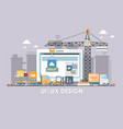 user interface build flat design for vector image