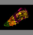 3d soccer cricket football boot with the flag of vector image