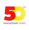 50 anniversary years logo vector image vector image