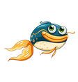 A fish with big eyes vector image vector image