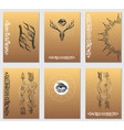 a set cards with a style boho posters vector image vector image