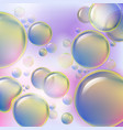 abstract colorful bubbles rising on soft vector image vector image