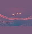 abstract futuristic digital landscape vector image vector image