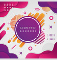 abstract geometric colorful shape background vector image vector image