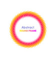abstract round frame gradient vector image