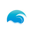abstract wave logo vector image vector image