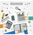 Accounting icon thin line for web and mobile moder vector image vector image