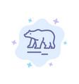 animal bear polar canada blue icon on abstract