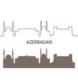 azerbaijan vector image vector image