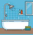 bathroom of home design vector image