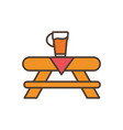 beer on table oktoberfest icon line filled vector image