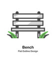 bench outline flat vector image vector image