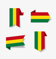 bolivian flag stickers and labels vector image vector image