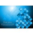 Bright blue hi-tech design vector image vector image