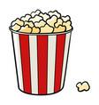 bucket popcorn vector image