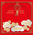 chinese new year greeting card with frame border vector image vector image