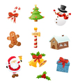 Christmas icon set vector | Price: 3 Credits (USD $3)