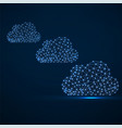 clouds of glowing lines and dots abstract vector image vector image