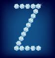 diamond alphabet letter z vector image vector image