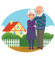 Elderly couple at their home vector image vector image