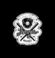 emblem campus baseball team vector image vector image