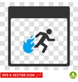Fire Evacuation Man Calendar Page Eps Icon vector image vector image