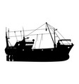 fishing trawler vector image