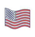 flag united states of america wave flat icon color vector image vector image