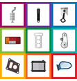 flat icon auto set of auto component packing vector image vector image