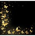frame golden butterflies vector image vector image