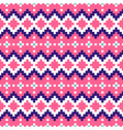 geometric seamless pink chevron pattern pixel vector image vector image