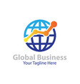 global business logo designs vector image