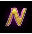 golden and pink letter n vector image vector image
