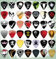 guitar pick set vector image vector image