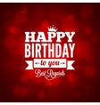 happy birthday sign design background vector image vector image