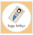Happy holidays22 vector image