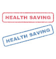 health saving textile stamps vector image vector image