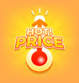 hot price with thermometer special offer summer vector image vector image