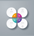 infographics template four options with circle vector image vector image