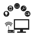 Internet of things design vector image vector image