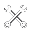 Isolated wrench tool design vector image vector image