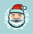 laughing santa claus in hat christmas vector image vector image