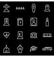 line funeral icon set vector image vector image