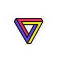 logo penrose triangle logo image is vector image