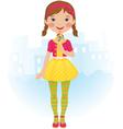 Lollipop girl vector image