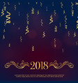 luxury style 2018 happy new year greeting with vector image vector image